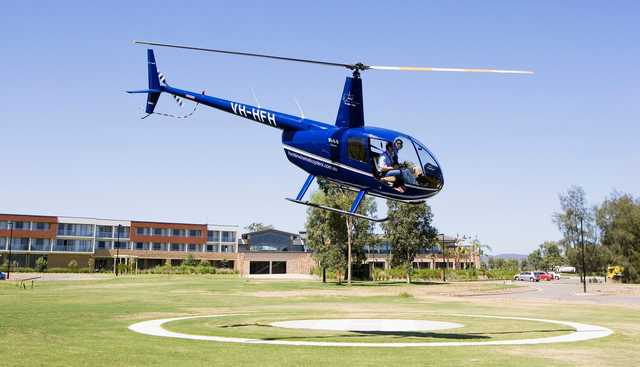 Helipad at Hunter Valley