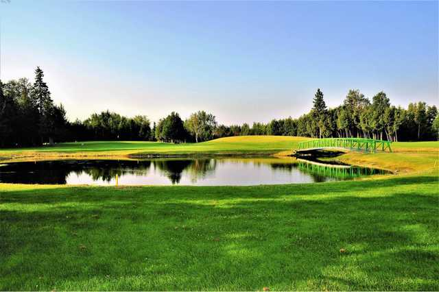 A view over a pond at Stittsville Golf Course.
