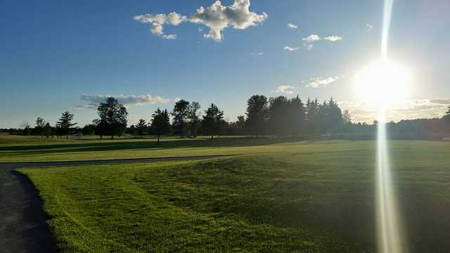 A sunny day view of a fairway at Stittsville Golf Course.