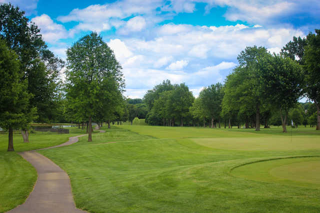 A view of a hole at Sedalia Country Club.