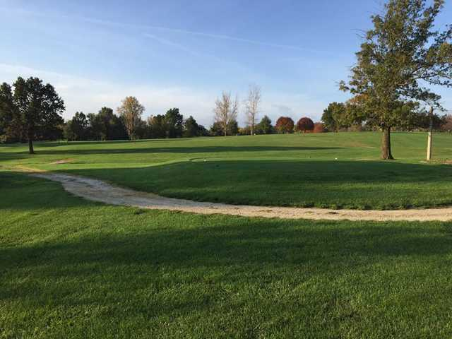 A view of a tee at Timber Ridge Golf Course.