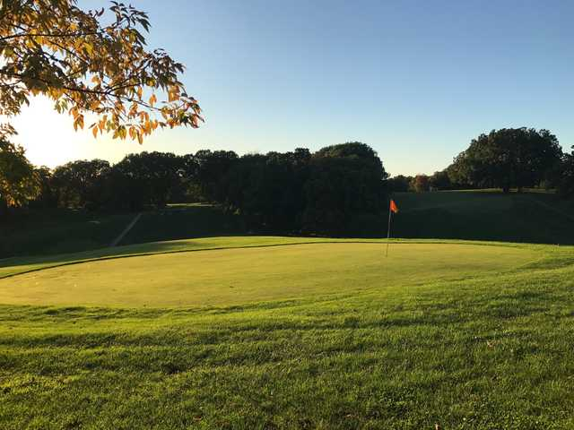 A view of a green at Macon Country Club.