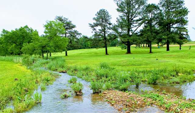 A view of a hole at Sycamore Hills Country Club.