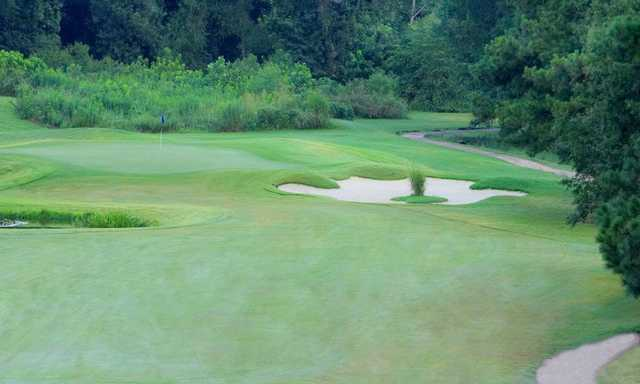 A view of the 14th hole at Jackson National Golf Club.