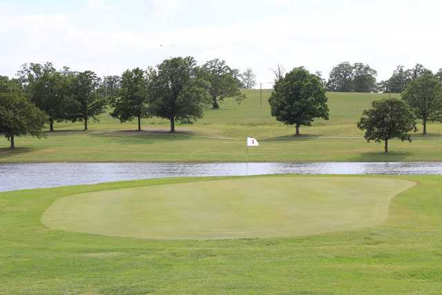 A view of hole #1 at North Terra Golf Course.