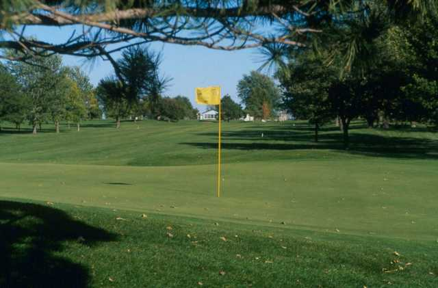 A view of hole #1 at Kuehn Park Golf Course.