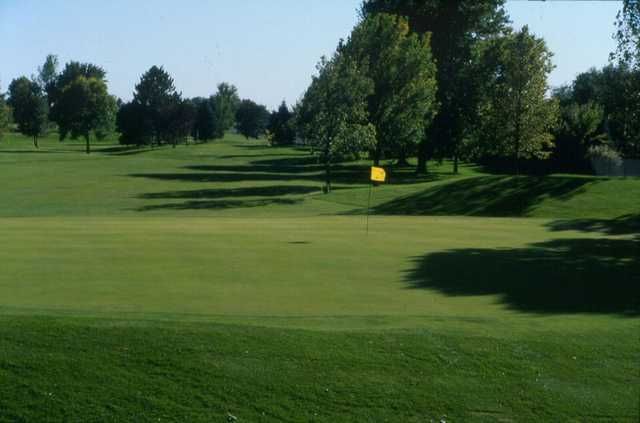 A view of the 3rd green at Kuehn Park Golf Course.