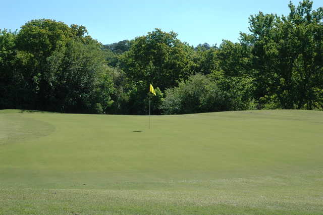 View of the 1st green at Oxbow Creek Golf Course.