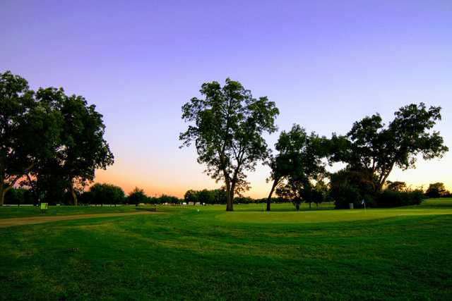 A sunrise view from Oak Hollow Golf Course.