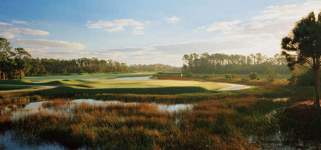 A view of a hole at Old Marsh Golf Club.