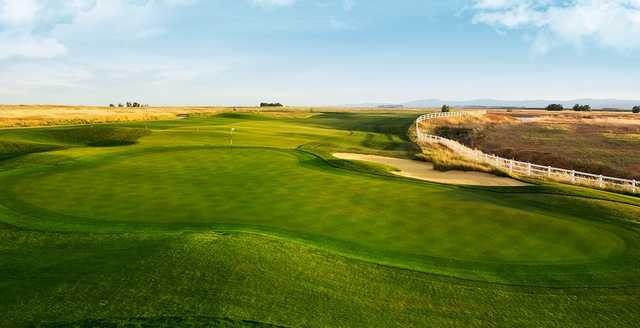 A view of a green from The Links at Rolling Hills.