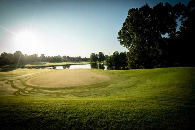 A view of one of the well maintained holes at Timber Truss Golf Course.