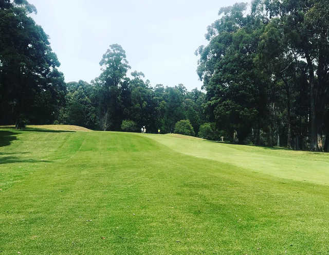 A view from fairway #14 at Ulverstone Golf Club.