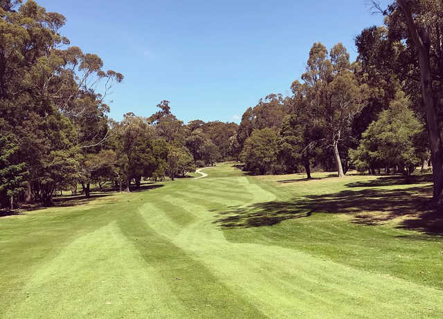 A view from the undulating 7th fairway at Ulverstone Golf Club.