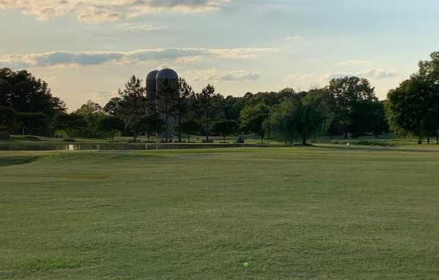An evening view from River Birch Golf Club.