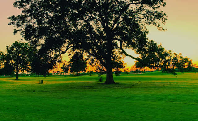 A sunset view from Pecan Grove Plantation Country Club.