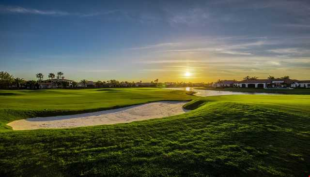 A sunrise view from Lakes at Quail West Golf & Country Club.