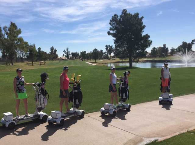 Ladies on golf boards at Western Skies Golf Club