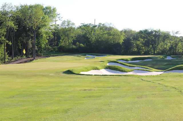 A view of a well protected hole at Rochester Golf & Country Club.