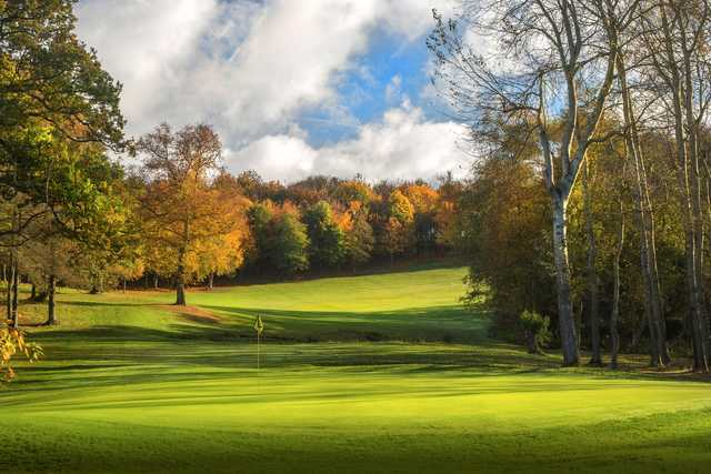View of the 13th  green from the Wood Course at Sandford Springs Golf Club