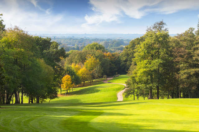 View of the 15th  green from the Wood Course at Sandford Springs Golf Club