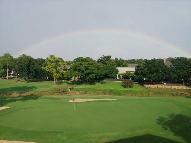 A view of the rainbow over Shady Valley Golf Club.