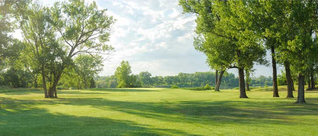 A view from fairway #1 at Shoreline Golf Course.