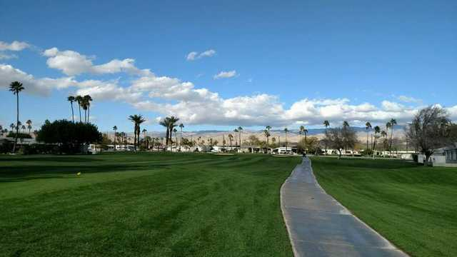 A view of a tee and fairway at Eighteen from Tri-Palm Country Club (Tammy Simmons).
