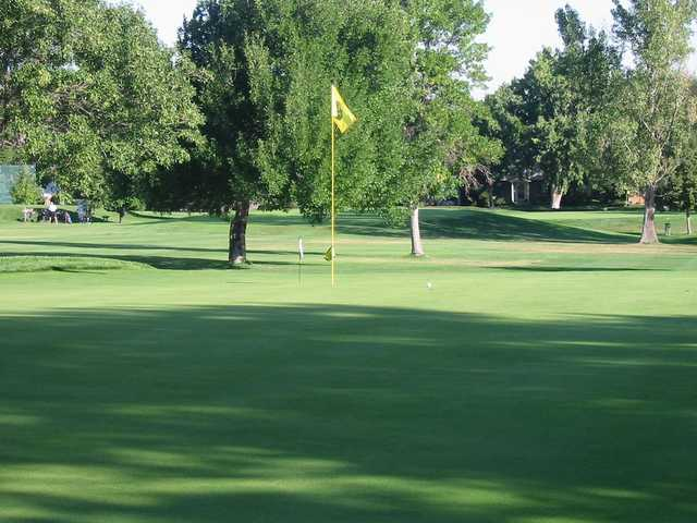 A view of a hole at Southglenn Country Club.