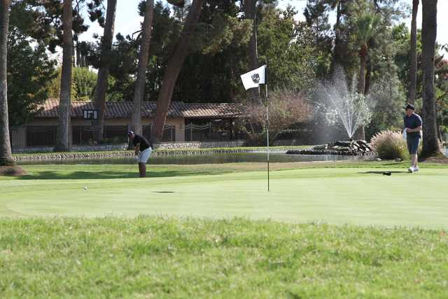 A view of a hole at Stockdale Country Club.