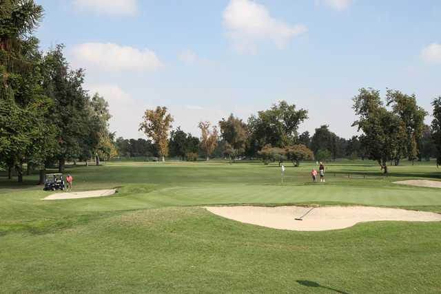 A view of a well protected hole at Stockdale Country Club.