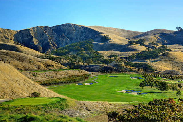 A view of tee #5 from The Course at Wente Vineyards.