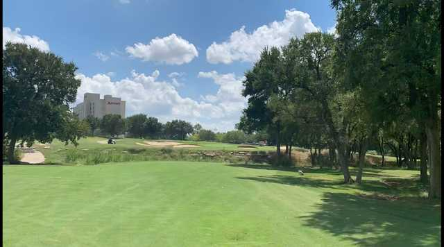 A sunny day view from The Golf Club at Champions Circle.