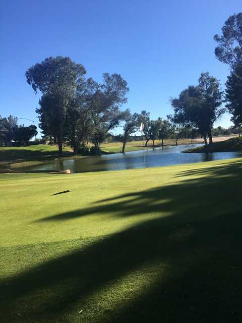 View of the 6th hole at Stripe Show Golf Club