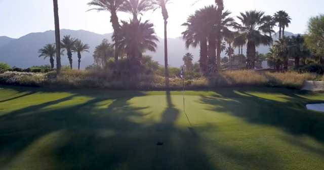 A view of green #2 from Par 3 Practice at Tradition Golf Club.