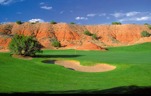 A view of hole #6 at Twin Warriors Golf Club.