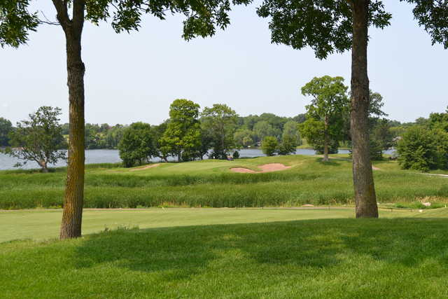 A view of the 7th hole at Wild Marsh Golf Club.