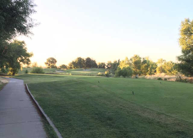 A view of hole #12 at Wildhorse Golf Course.