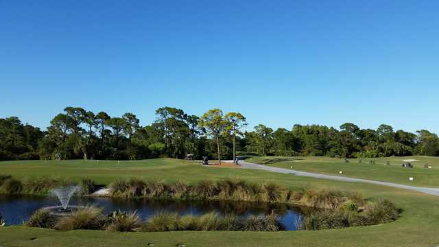 A view of the practice area at Hobe Sound Golf Club.