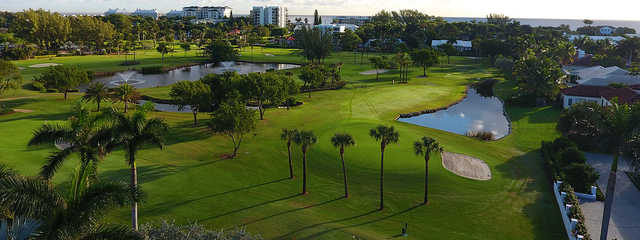 A view of a green at The Little Club.
