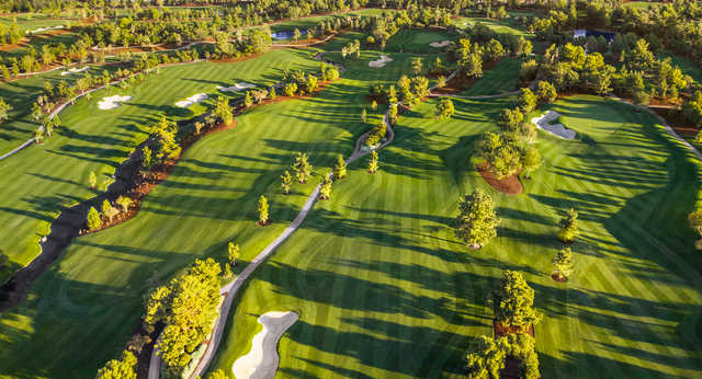 Aerial view from Wynn Golf Club