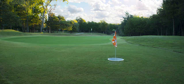 Looking back from a green at Cobblestone Creek Golf Club.