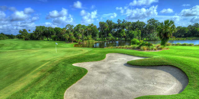 A view of a hole at Sugar Mill Country Club.