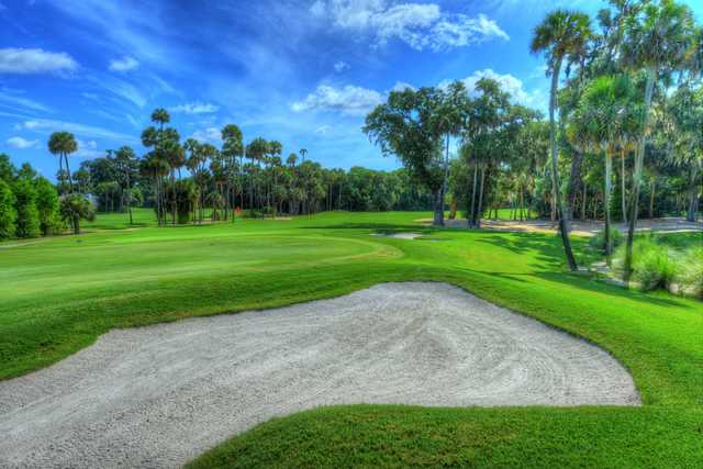 A view of a green at Sugar Mill Country Club.