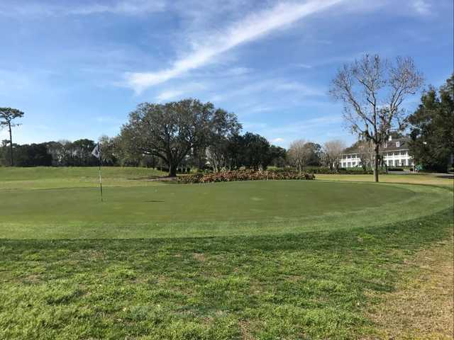 A view of hole #18 at Tuscawilla Golf Course.