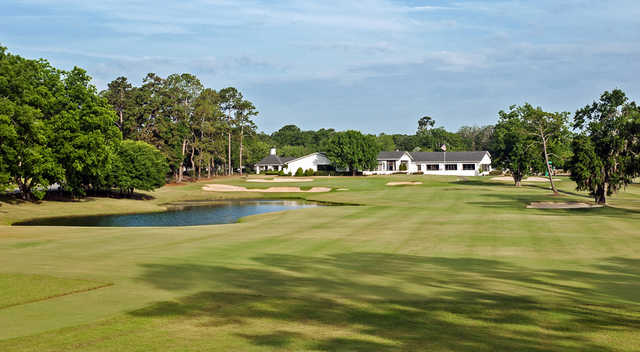 A view from a fairway at Bellemeade at Valdosta Country Club.