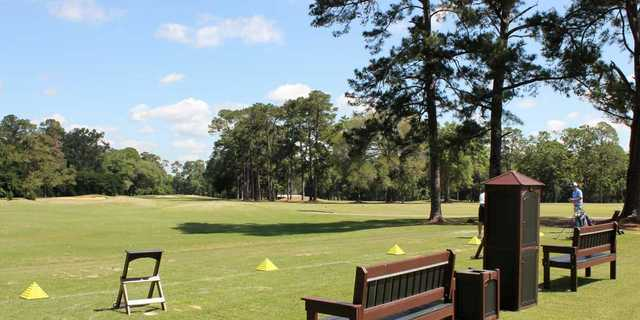 A view of the driving range at Valdosta Country Club.