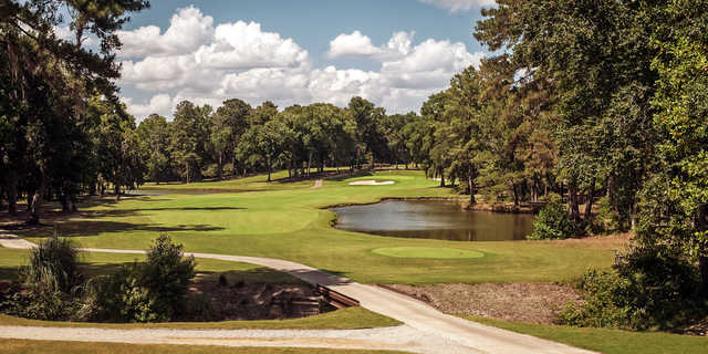A view of a tee at Valdosta Country Club.