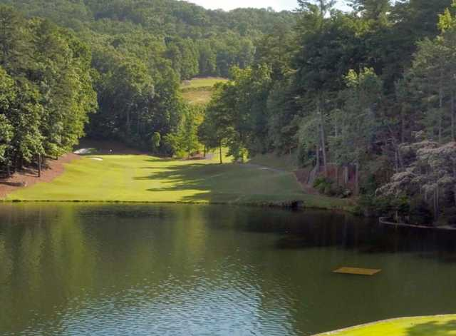 A view of the 1st hole at Creek from Big Canoe Golf Club.