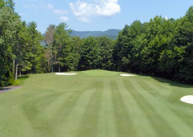 A view of the 8th hole from Choctaw at Big Canoe Golf Club.